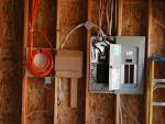 Electrical box and (orange) structured wiring (data, telephone, CATV)